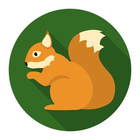 artful: Squirrel vector illustration icon in flat design