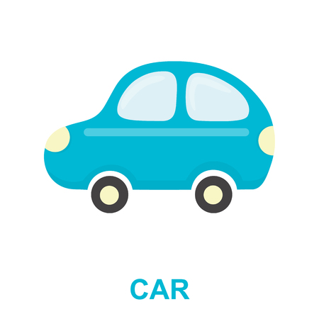 Car toy cartoon icon. Illustration for web and mobile. Illustration