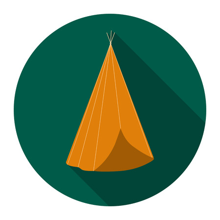 abode: Wigwam icon flat. Singe western icon from the wild west flat.