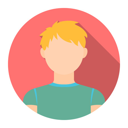 set of men hair styling: Redhead boy icon cartoon. Single avatar,peaople icon from the big avatar collection. Illustration