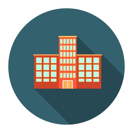 병원 아이콘 만화입니다. 큰 도시 인프라 수집에서 단일 건물 아이콘입니다. 일러스트