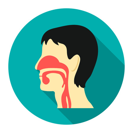 Respiratory system icon cartoon. Single medicine icon from the big medical, healthcare collection.