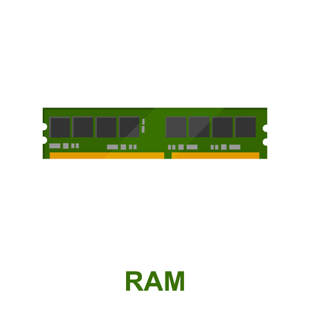 main part: Ram icon cartoon. Single PC icon from the big technology collection.