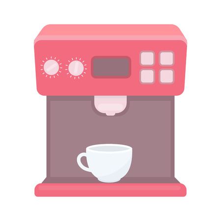 contemporary taste: Coffeemaker icon in cartoon style isolated on white background. Household appliance symbol vector illustration.