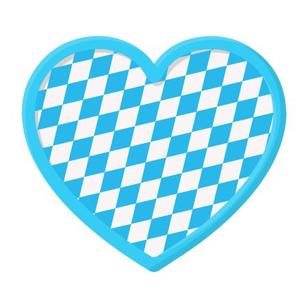 Oktoberfest heart icon in cartoon style isolated on white background. Oktoberfest symbol vector illustration.