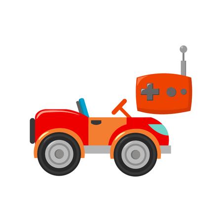 RC Auto-Symbol in Cartoon-Stil auf weißem Hintergrund. Spielen Garten Symbol Vektor-Illustration. Standard-Bild - 63195405