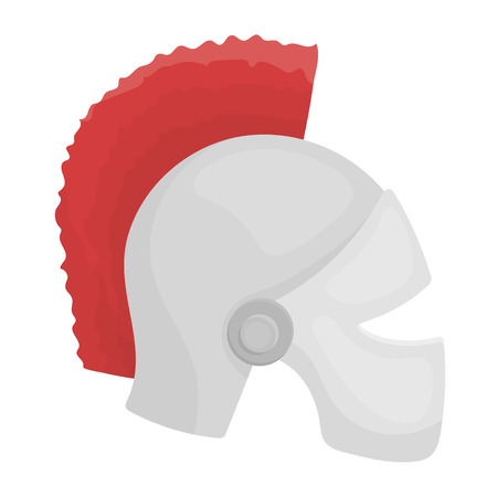 Helmet icon in cartoon style isolated on white background. Theater symbol vector illustration