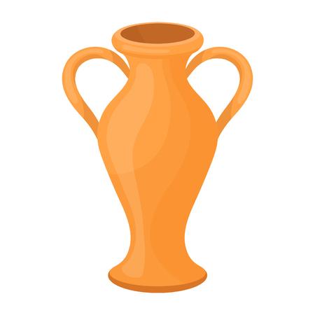 Amphora icône dans le style de dessin animé isolé sur fond blanc. Theater symbole illustration vectorielle
