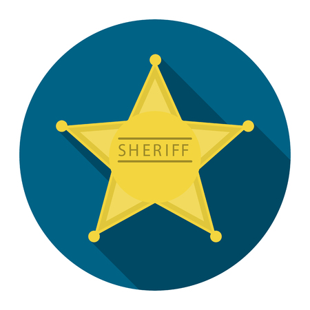 Sheriff icon cartoon. Singe western icon from the wild west collection.