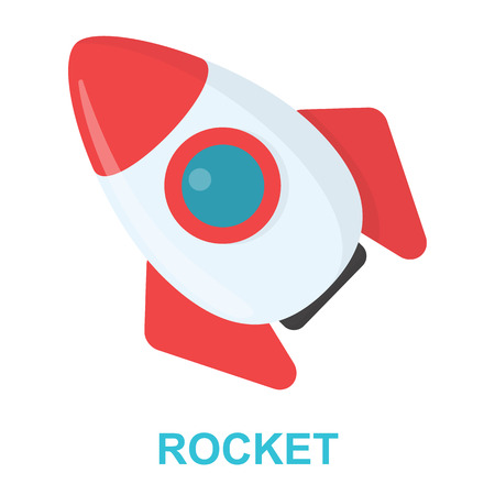 Rocket cartoon icon. Illustration for web and mobile.