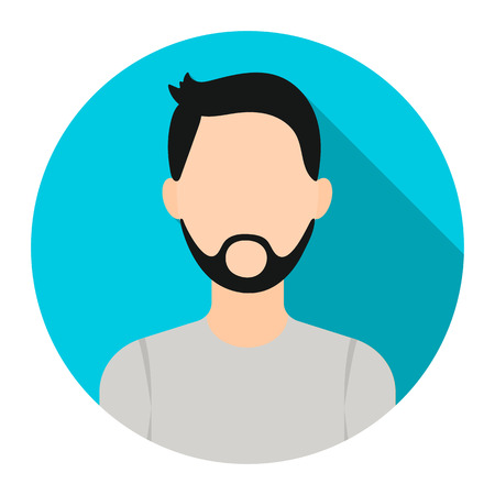 Man with beard icon cartoon. Single avatar,peaople icon from the big avatar collection. Illustration