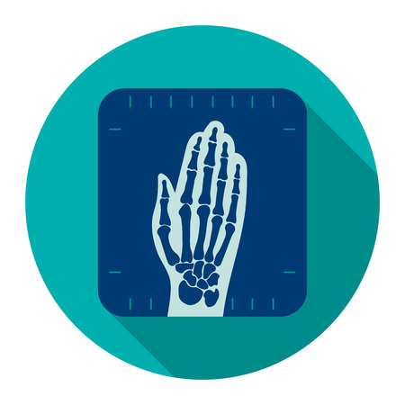 X-ray hand icon cartoon. Single medicine icon from the big medical, healthcare collection.