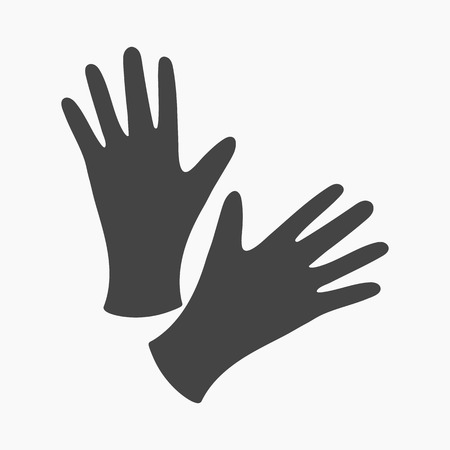 surgical glove: Black protective rubber gloves icon cartoon. Single tattoo icon from the big studio collection. Illustration