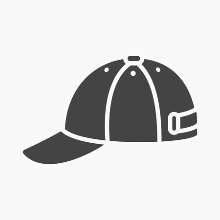web cap: Cap icon of vector illustration for web and mobile design