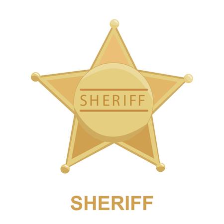 Sheriff icon cartoon. Singe western icon from the wild west collection. Vektoros illusztráció