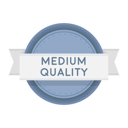 medium: Medium quality icon in cartoon style isolated on white background. Label symbol vector illustration.