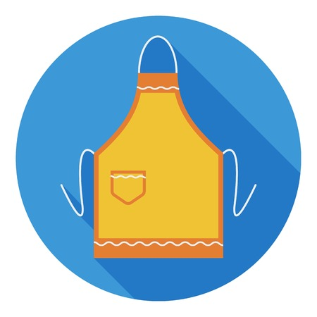 Apron icon in flat style isolated on white background. Kitchen symbol vector illustration.