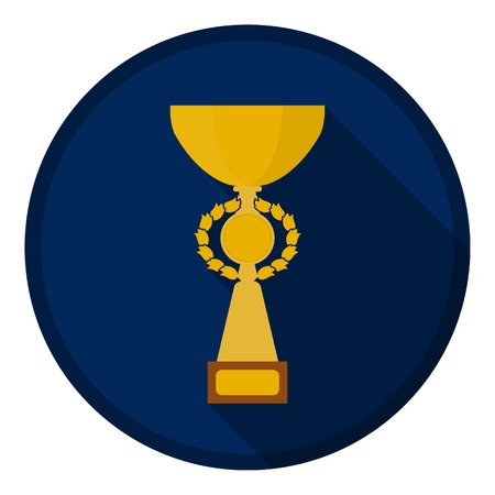 gold cup: Gold cup icon in flat style isolated on white background. Winner cup symbol vector illustration. Illustration