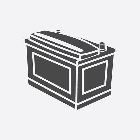 stock car: Car battery icon style. Single silhouette auto parts icon from the big car black - stock rastr Stock Photo