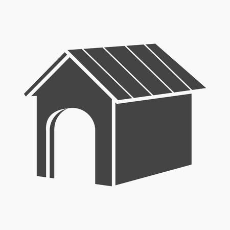 doghouse: Doghouse rastr illustration icon in black design