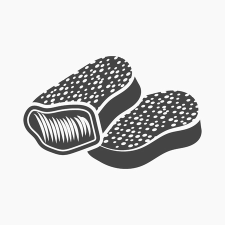 Nuggets rastr illustration icon in simple design