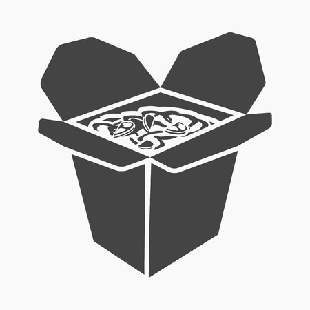 noodles: Noodles rastr illustration icon in simple design Stock Photo