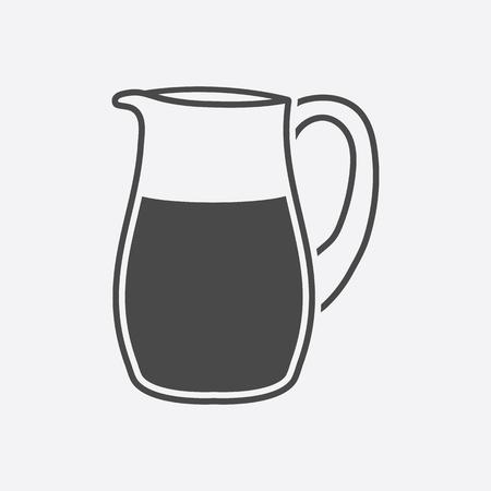 nourishing: Mlk jug icon black. Single bio, eco, organic product icon from the big milk collection.
