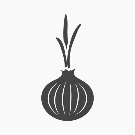 cellulose: Onion icon cartoon. Singe vegetables icon from the eco food collection. Stock Photo