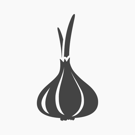 Garlic icon cartoon. Singe vegetables icon from the eco food collection.