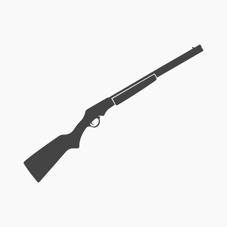 vintage military rifle: Shotgun icon cartoon. Singe western icon from the wild west collection.