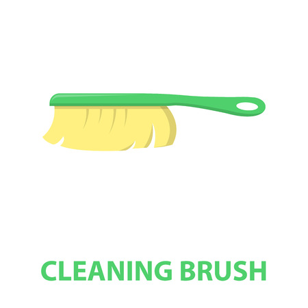 brush cleaner: Cleaner brush cartoon icon. Illustration for web and mobile. Stock Photo