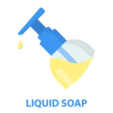 dishwashing liquid: Liquid soap cartoon icon. Illustration for web and mobile.