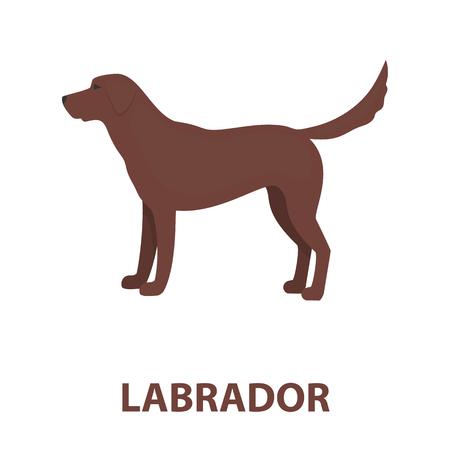 labrador: Labrador rastr illustration icon in cartoon design