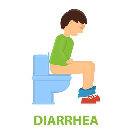 diarrhea: Diarrhea icon cartoon. Single sick icon from the big ill, disease collection.