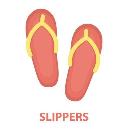 Slippers icon of rastr illustration for web and mobile design