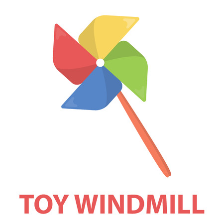 windmill toy: Toy windmill cartoon icon. Illustration for web and mobile.