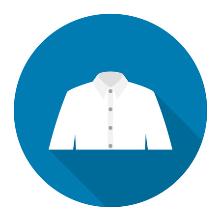 long sleeve shirt: Long sleeve shirt icon of rastr illustration for web and mobile design
