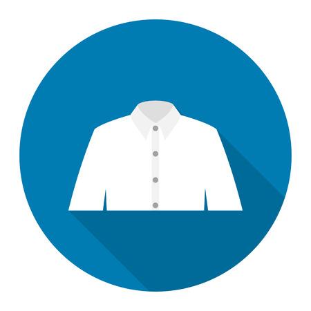 long sleeve shirt: Long sleeve shirt icon of rastr illustration for web and mobile design