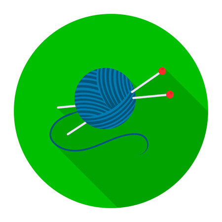 Yarn and needles icon of rastr illustration for web and mobile design Stock Photo