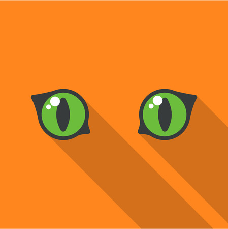 night vision: Cat eyes icon of rastr illustration for web and mobile design