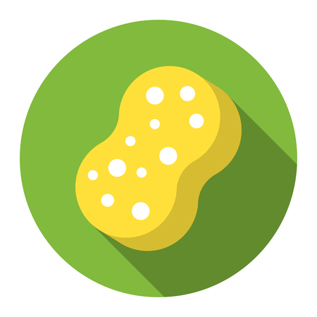 Sponge flat icon. Illustration for web and mobile.