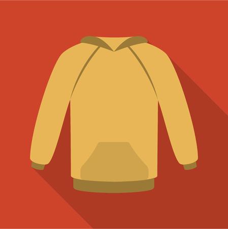 hooded: Raglan icon of rastr illustration for web and mobile design Stock Photo
