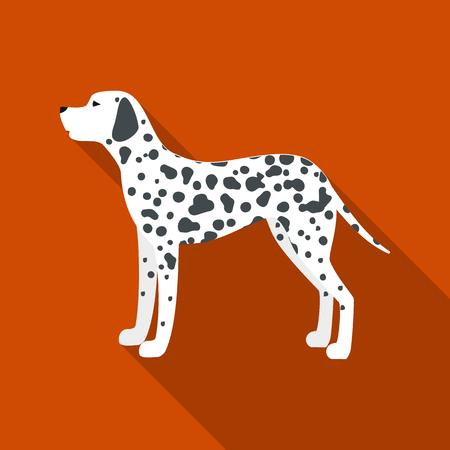 dalmatian: Dalmatian rastr illustration icon in flat design Stock Photo