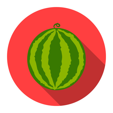 Watermelon icon cartoon. Singe fruit icon from the food collection. Stock Photo