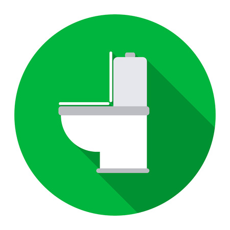 WC toilet icon of rastr illustration for web and mobile design