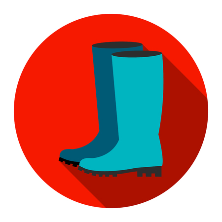 Rubber boots icon of rastr illustration for web and mobile design
