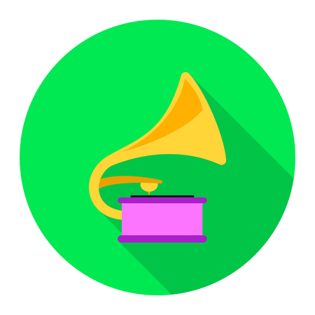 sound box: Gramophone icon of rastr illustration for web and mobile design