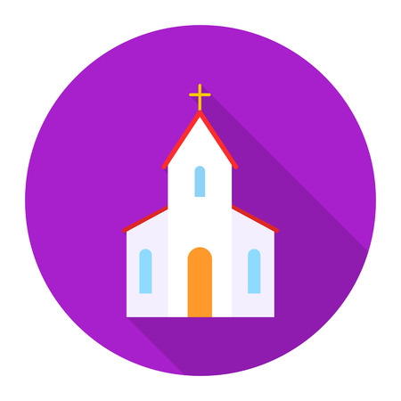 wedding love: Church icon of rastr illustration for web and mobile design