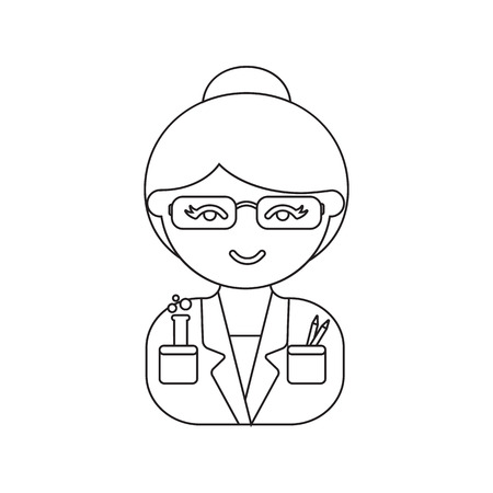 physicist: Scientist line icon. Illustration for web and mobile.