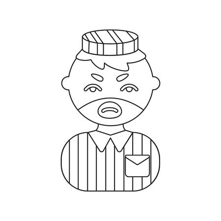 imprisoned: Prisoner line icon. Illustration for web and mobile.